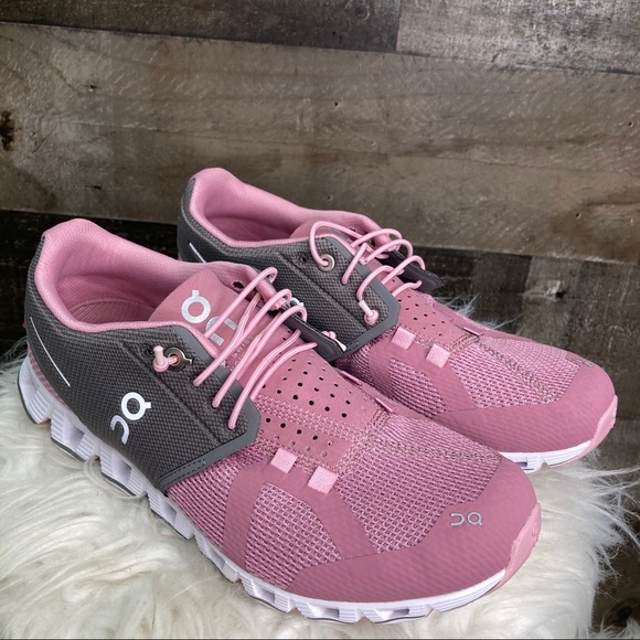 On Cloud Charcoal Rose Running Shoes